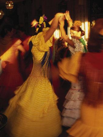 Flamenco Dancers, Spain Photographic Print by Peter Adams