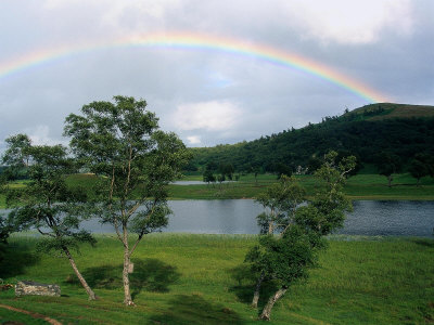 Rainbow in the Highlands of Scotland Photographic Print by Bruce Clarke