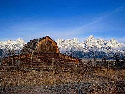Barn, Grand Teton National Park, WY Photographic Print by Elizabeth DeLaney