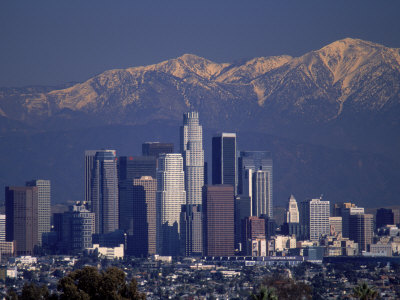 View of San Gabriel Mountain, Los Angeles Photographic Print by Gary Conner
