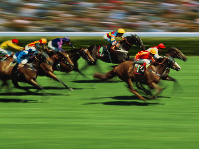 Horse Racing, Australia Photographic Print by Peter Walton