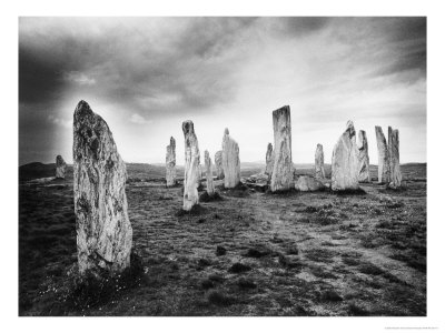 The Callanish Stones, Isle of Lewis, Outer Hebrides, Scotland Giclée-Druck von Simon Marsden