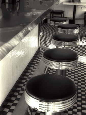 50s Style Cafe Photographic Print by Gary Conner