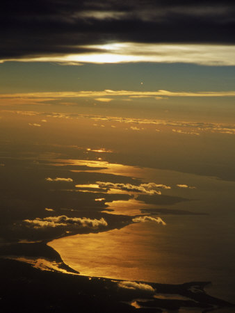 Aerial View, Long Island Sound, NY Photographic Print by Bruce Clarke
