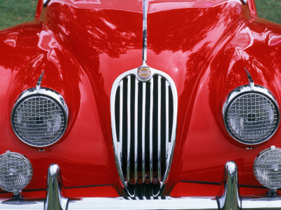 Front Detail of 1955 Jaguar Xk-140 Photographic Print by Gary Conner