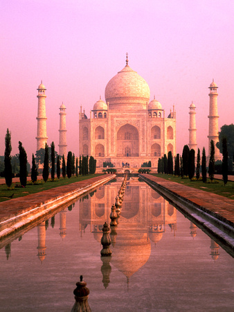 Agra, India, Wonder of the Taj Mahal Photographic Print by Bill Bachmann