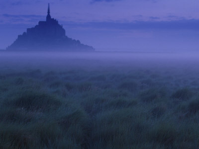 Dawn, Mist and Field, Normandy, France Photographic Print