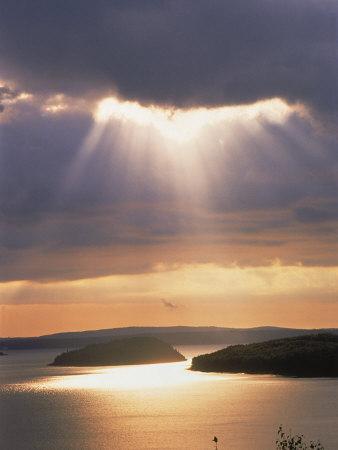 Sunrise Over Bar Harbor, Cadillac Mountain, ME Photographic Print by Elizabeth DeLaney
