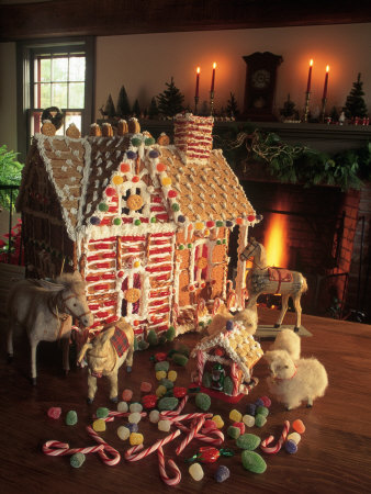 Christmas Gingerbread House Photographic Print by Kindra Clineff