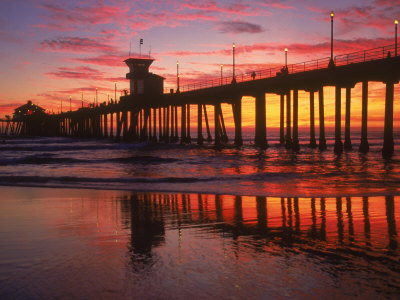 Huntington Beach Pier, CA Photographic Print by Michele Burgess