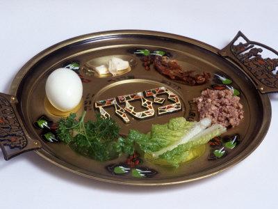 Ceremonial Seder Plate Photographic Print by David Wasserman