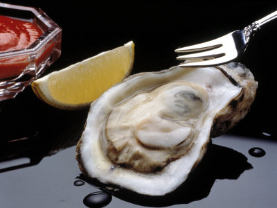 Oyster on the half shell