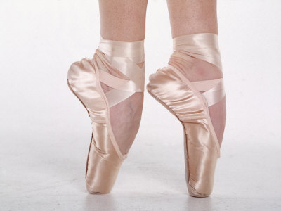 Feet of Dancing Ballerina Photographic Print by Bill Keefrey