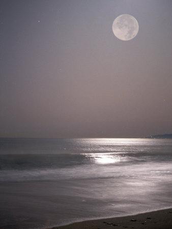 Full Moon Photographic Print by Mitch Diamond