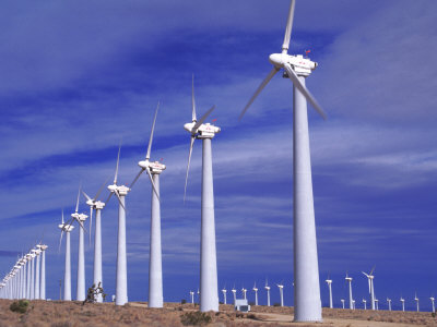 Rows of Wind Powered Generators, Mojave, CA Photographic Print by Gary Conner