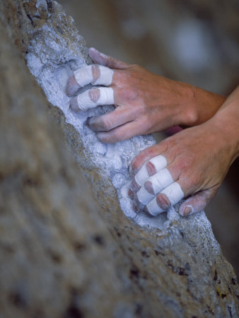 Close-up of Rock Climber's Hands, CA Photographic Print by Greg Epperson