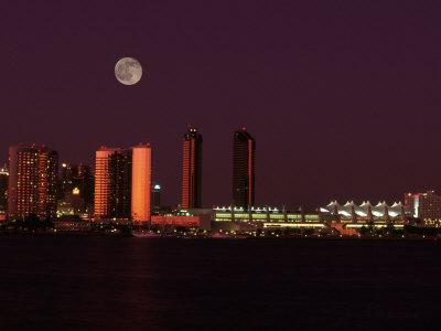 Skyline at Night, San Diego, CA Photographic Print by Robin Allen