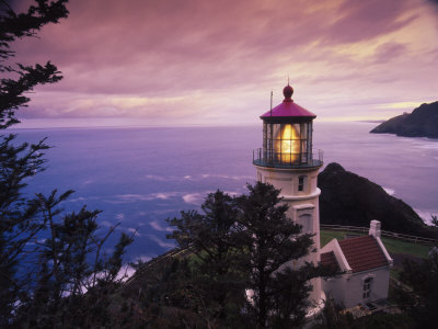 Heceta Head Lighthouse, Oregon Coast Photographic Print by Stuart Westmorland