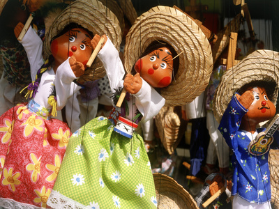 Colorful Puppets, Puerto Vallarta, Mexico Photographic Print by Bill Bachmann
