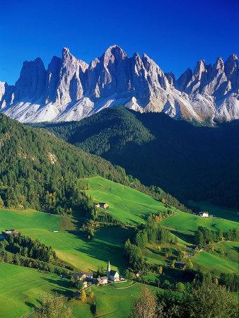 Dolomity sv. Magdaléna, Itálie Fotografická reprodukce