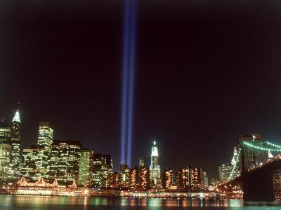 World Trade Center Memorial Lights, New York City Photographic Print by Rudi Von Briel