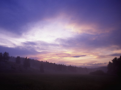 Sunrise in Yellowstone National Park Photographic Print by Bruce Clarke