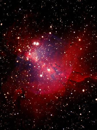 Nebula and Stars Fotografisk tryk