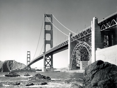 golden gate bridge black and white pictures. Golden Gate Bridge 1950,