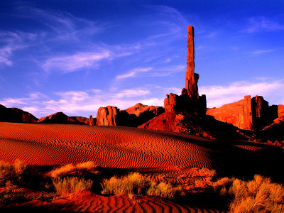 Totem Pole, Monument Valley, AZ Photographic Print by Russell Burden