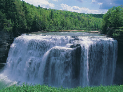Waterfall, Letchworth State Park Photographic Print by Jim Schwabel