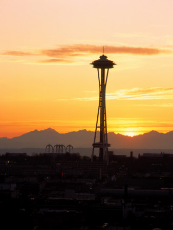 Seattle Space Needle, WA Photographic Print by George White Jr.