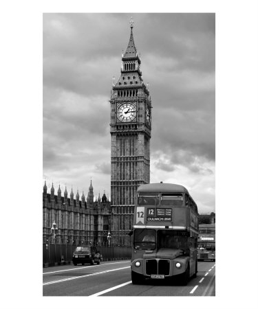 Big Ben, London, England, B & W Photograph Photographic Print