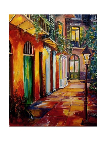 Pirates Alley By Night Posters by Diane Millsap
