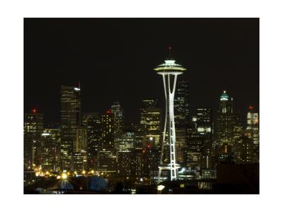 Seattle Skyline Photographic Print by John Gusky
