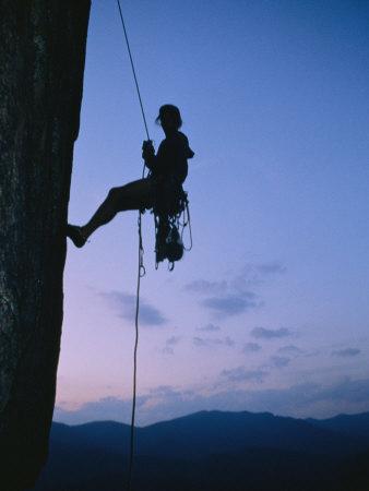Neeld Messler Climbing Looking Glass Rock Photographic Print by Stephen Alvarez