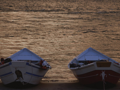 Two Wooden Dories on the Shore of the Colorado River Photographic Print by Dugald Bremner