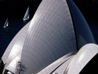 Elevated View of the Sydney Opera House Fotografisk tryk