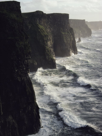 Waves Pound the Cliffs of Moher Photographic Print by Cotton Coulson
