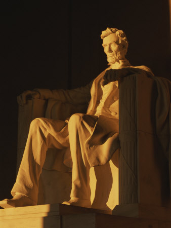 Abraham Lincoln Statue in Lincoln Memorial, Washington, D.C. Photographic
