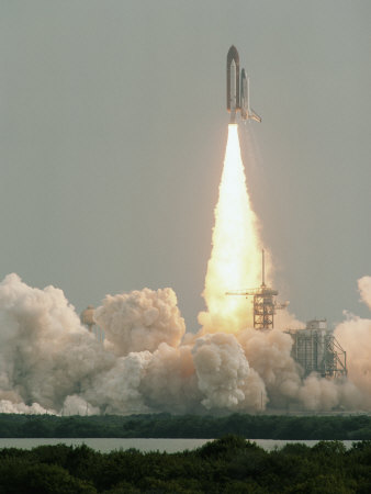 Space Shuttle Blast Off Photographic Print by Anthony Peritore