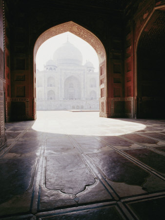 A View of the Taj Mahal from a Nearby Mosque Photographic Print by Jason Edwards