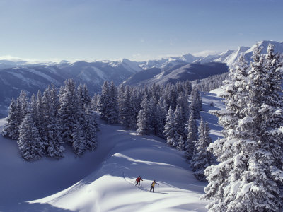 Cross-Country Skiing in Aspen, Colorado Photographic Print by Annie Griffiths Belt
