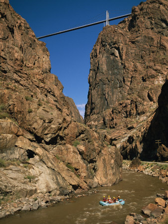 Rafting on the Arkansas River Below the Royal Gorge Bridge Photographic Print by Richard Nowitz