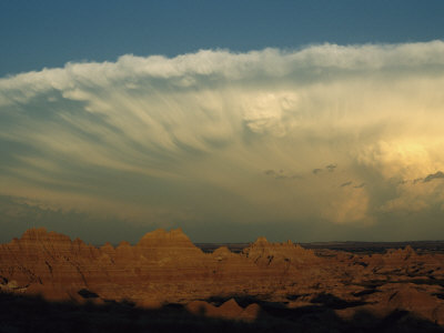 Storm Moves across the Badlands at Cedar Pass Photographic Print by Annie Griffiths Belt