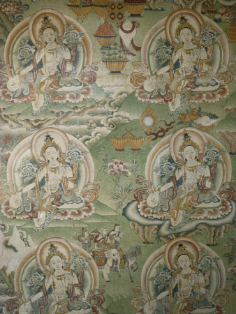 Buddhist Painting Inside the Jokhang Temple in Lhasa, Tibet Photographic Print by Gordon Wiltsie