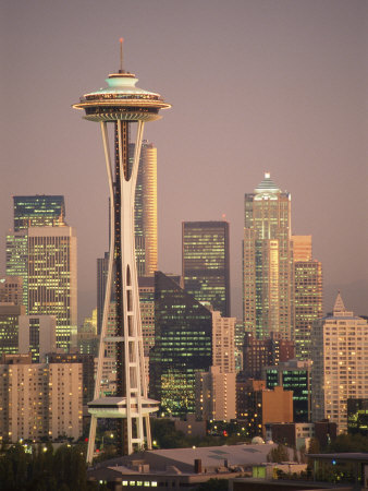The Space Needle Dominates the Seattle Skyline Photographic Print by Richard Nowitz