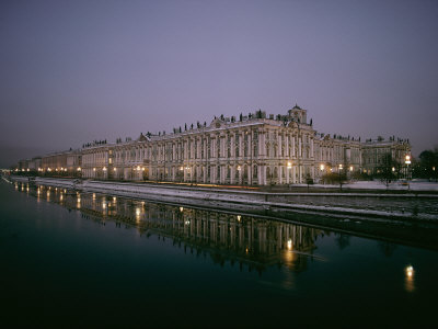 Night View of the Hermitage Museum Photographic Print by Dick Durrance