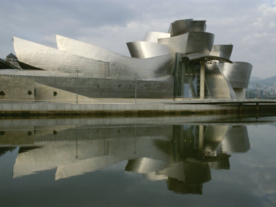 The Guggenheims Bilbao Museum, Frank Gehrys Abstract Masterpiece Fotoprint av Kenneth Garrett