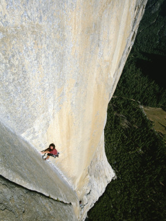 A Man Climbs El Capitan, Yosemite, California Photographic Print