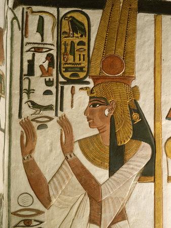 Nefertari Tomb Scenes, Valley of the Queens, Egypt Fotoprint av Kenneth Garrett